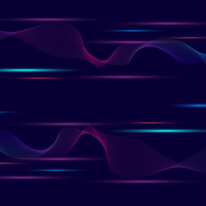 Technology wind purple red blue wave line speed sense background vector