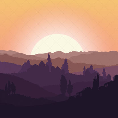Beautiful  Landscape Illustration
