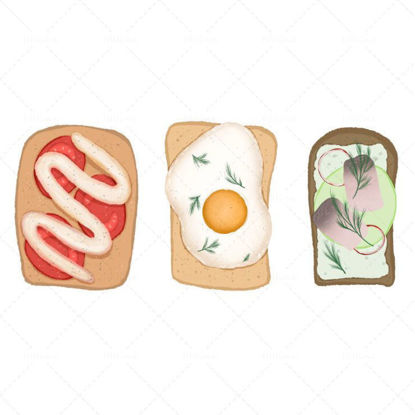 Three sandwiches illustration