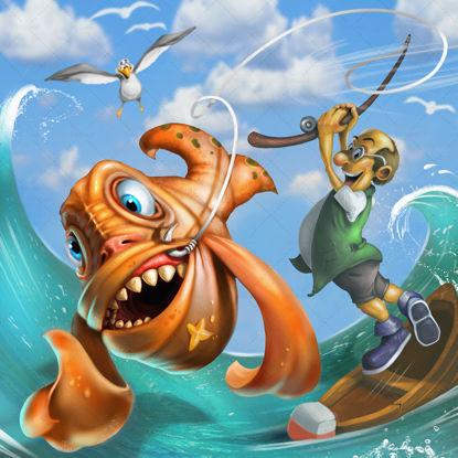 Fishing trip illustration