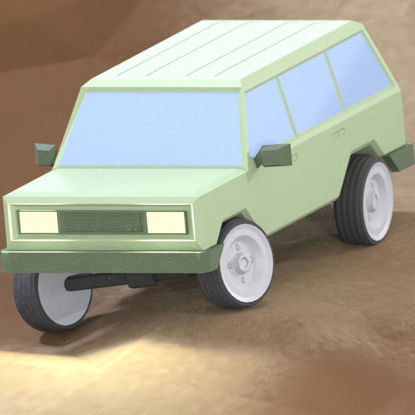 Low Poly Offroad truck SUV 3D model