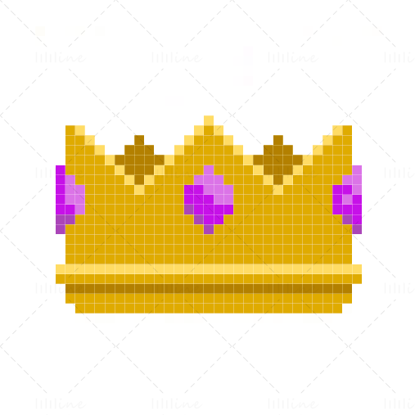 Pixel Art Crown Illustration