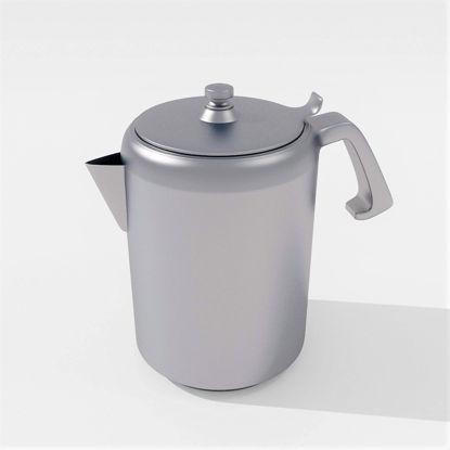 Aluminum kettle 3D model