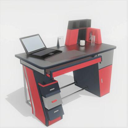 3D model of office desk