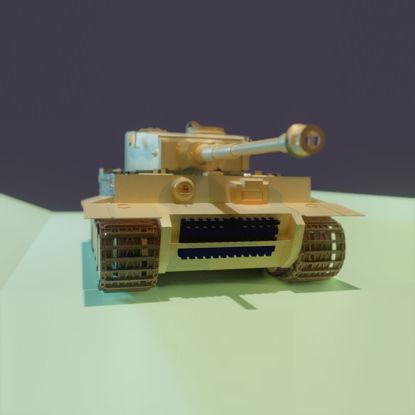 Tiger tank 1 3d model