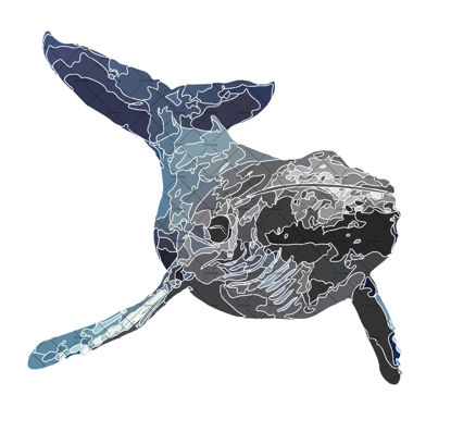 Whale illustration vector and png