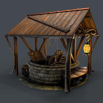 Stone well 3d model