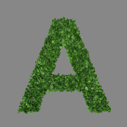 Green leaf alphabets letters transparent png