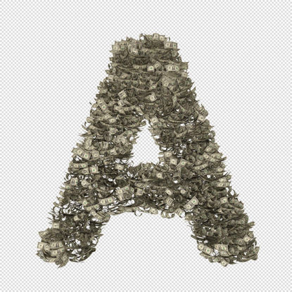 Cash money alphabets letters transparent png