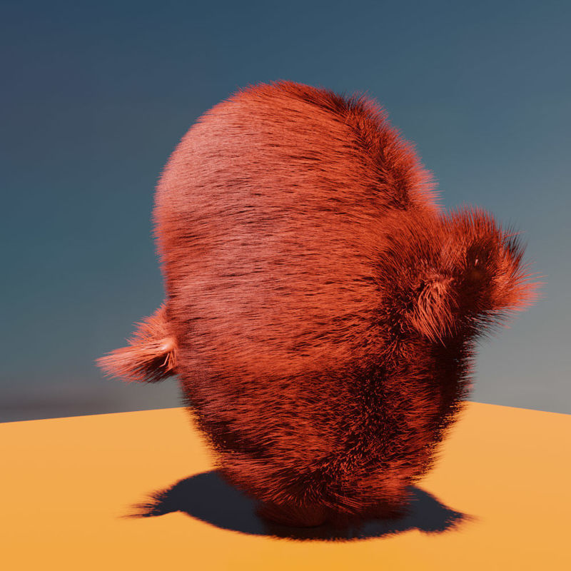 The Thing rigged animated 3d model