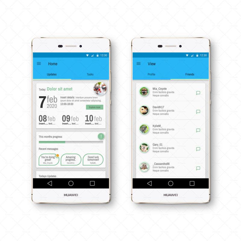 Mood Enhancer and Activity app UI UX