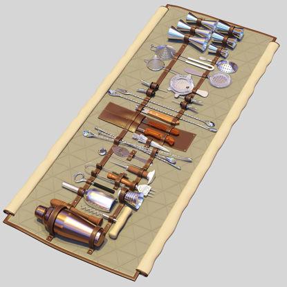 Bar Tools Roll-Up 3d model