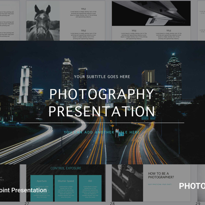 Photography Powerpoint Presentation Template