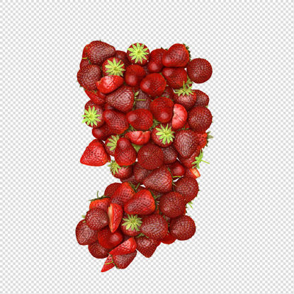 comma mark fruit strawberry png