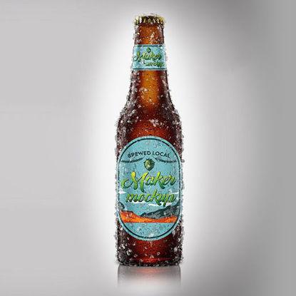 Iced Beer Bottle Mockup