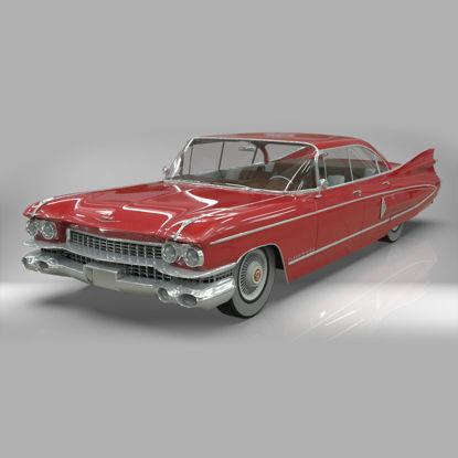 Cadillac fleetwood 1959 3d model