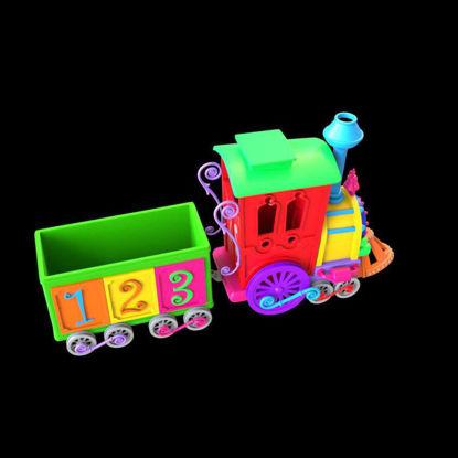 Cartoon Train 3d model