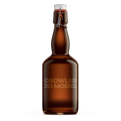 Growler 1 liter bottle 3d model