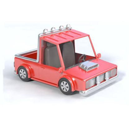 Cartoon pick-up truck 3D model