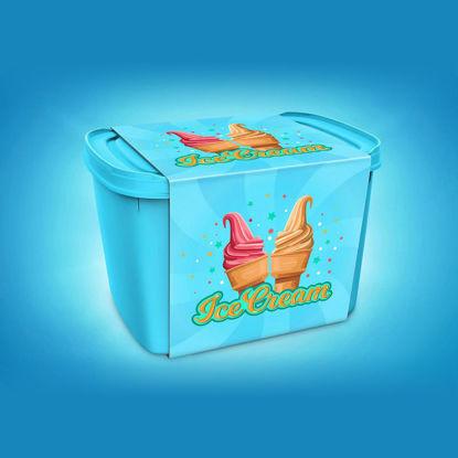 Ice cream container 3D model