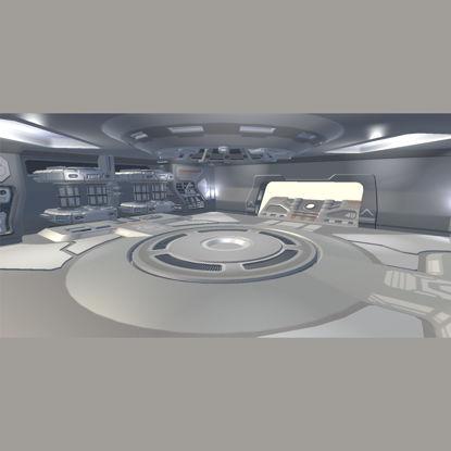 Sci-fi Hangar 3d model 2