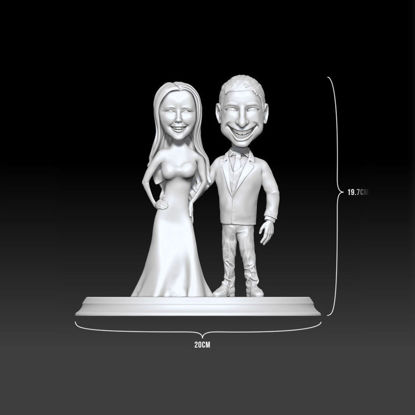 Wedding couple Cake 3D printing model