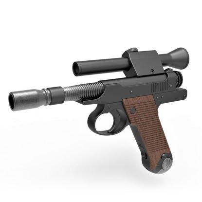 Blaster Pistol of Cara Dune 3d print model from The Mandalorian TV series