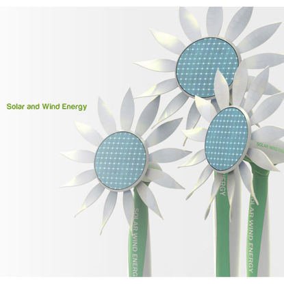 Sun and wind-green energy collection terminal 3d industry design
