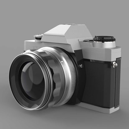 Minolta 370 film camera 3d model