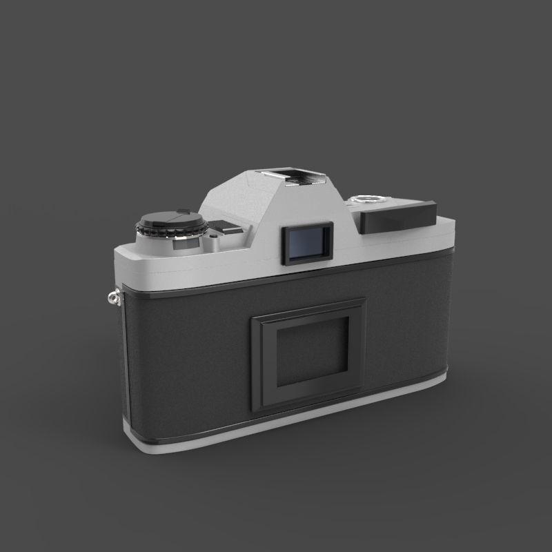 Minolta 370 film camera 3d model