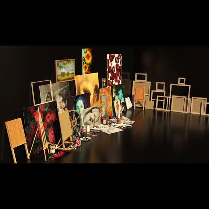 Artist Studio Set 190 3d model