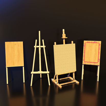 Artist Studio Easels Set 190 03 3d model