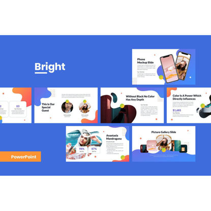 Fashion high-end simple and fresh high-end multi-purpose neo Memphis style powerpoint slide presentation template (pptx)