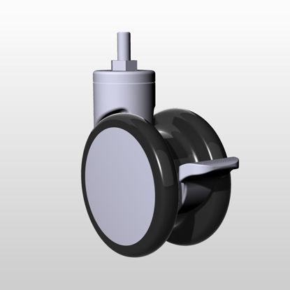 Caster industrial design 3D model (diameter 125mm)