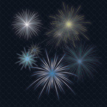 Colour blue fireworks transparent background