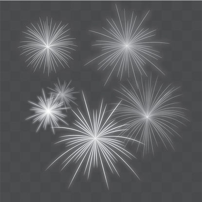 White fireworks vector png transparent background