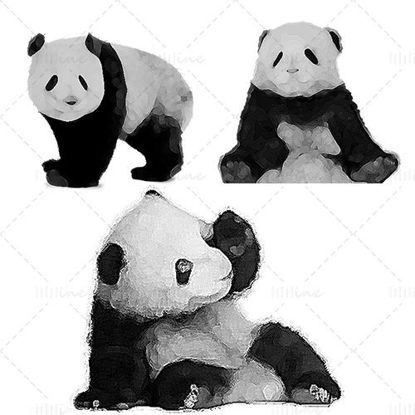 Panda element illustration png