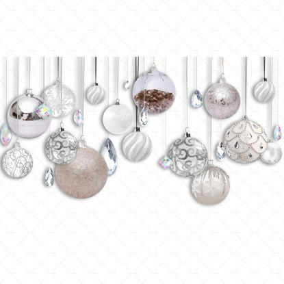 Christmas decorations with hanging diamonds png