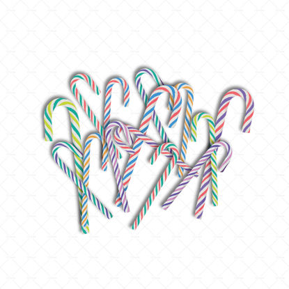 Christmas candy canes pile png