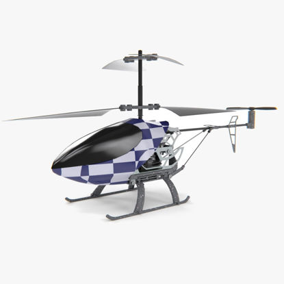 Remote controlled helicopter 3d model