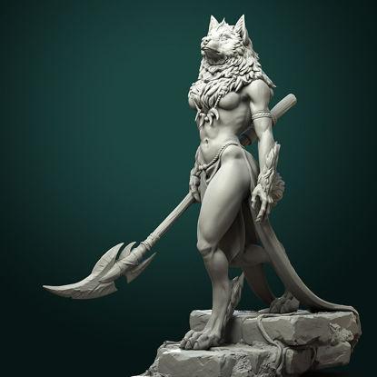 Oleana the Werewolf Queen printing STL