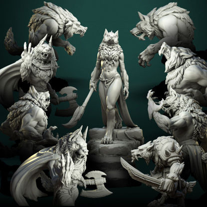 Werewolves bundle pre-supported 3d printing