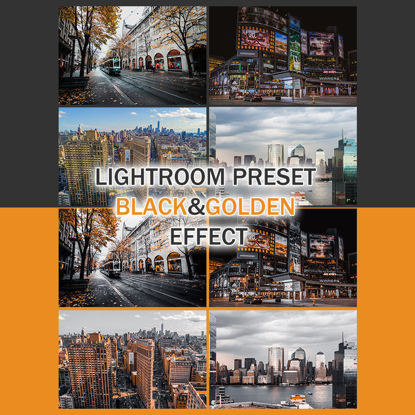 Lightroom preset black gold effect photo retouch