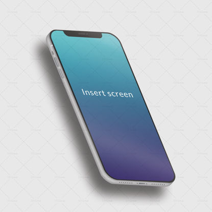 Iphone X mockup phone for screens
