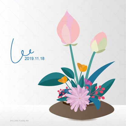 Vector flower illustration poster