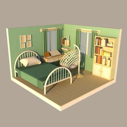 bedroom decorate 3d model