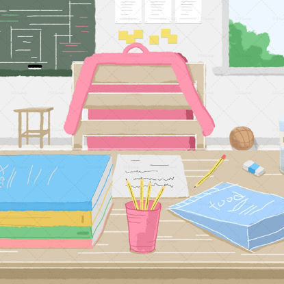 Time to go to school,Graphics,schoolbag,secretaire,learn,vector,inbetweening