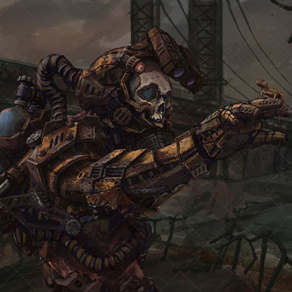 Digital 2D Illustration apocalypse art character lizard illustration