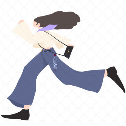 Girl running illustration