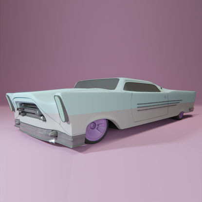 Retro-futuristic cruiser concept car 3d model